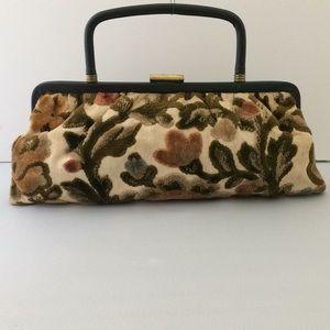 Vintage Floral Patterned Carpet Bag